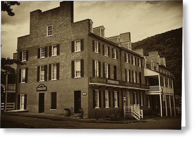 Harpers Ferry Digital Greeting Cards - Stephensons Hotel - Harpers Ferry  West Virginia Greeting Card by Bill Cannon