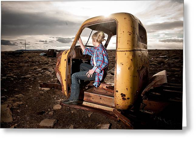 Old Trucks Greeting Cards - Stepping away Greeting Card by Scott Sawyer