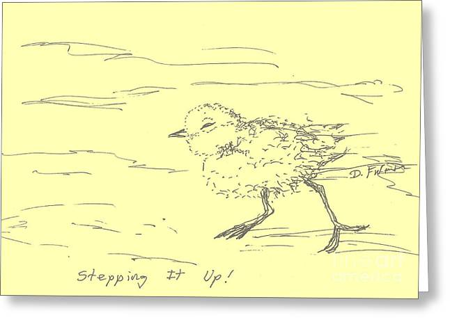 Pen And Ink Drawing Greeting Cards - Stepping It Up Greeting Card by Denise Fulmer