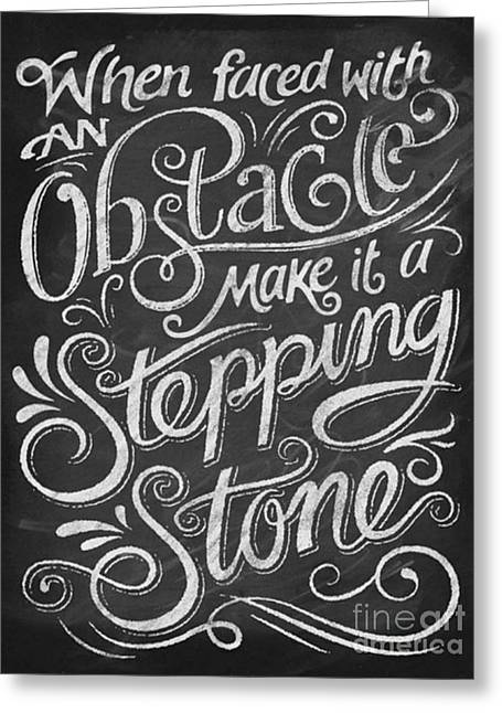 Stepping Stone Greeting Card by Drew Holt