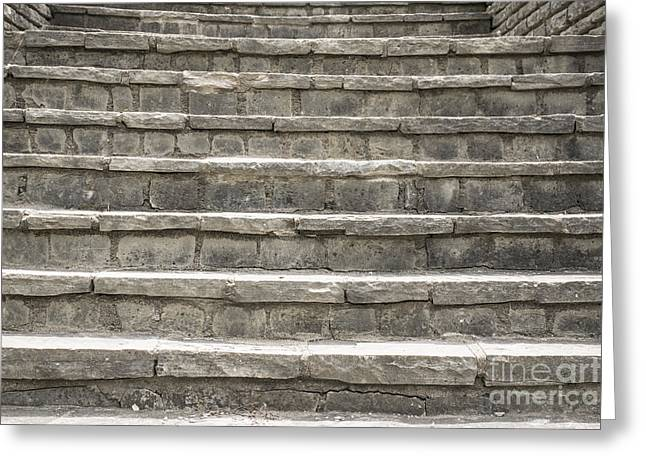 Fontain Greeting Cards - Steps from the Past Greeting Card by Tim Sevcik