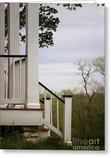 Side Porch Greeting Cards - Steps Greeting Card by Margie Hurwich