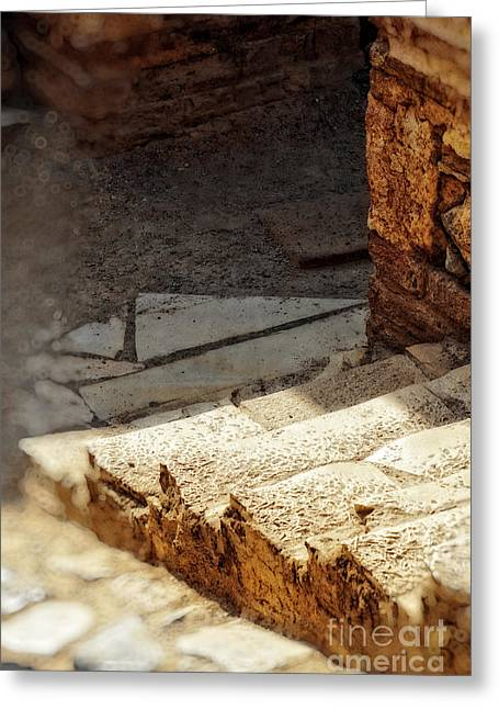 Steps Of Ephesus Greeting Card by HD Connelly