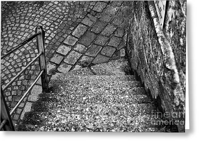 Stone Steps Photographs Greeting Cards - Steps of History in Salzburg Greeting Card by John Rizzuto