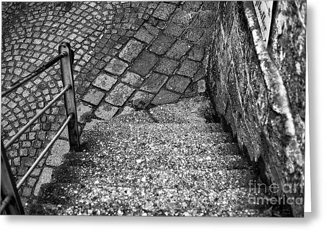 Salzburg Greeting Cards - Steps of History in Salzburg Greeting Card by John Rizzuto
