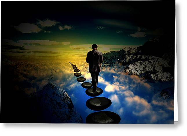 Stepping Stones Greeting Cards - Steps of Life Greeting Card by Wouter Castelein