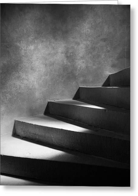 Lit Greeting Cards - Steps Of Light Greeting Card by Mark Seawell