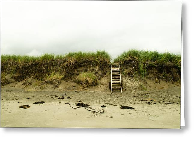 Maine Beach Greeting Cards - Steps on the Beach Greeting Card by Vic Bouchard