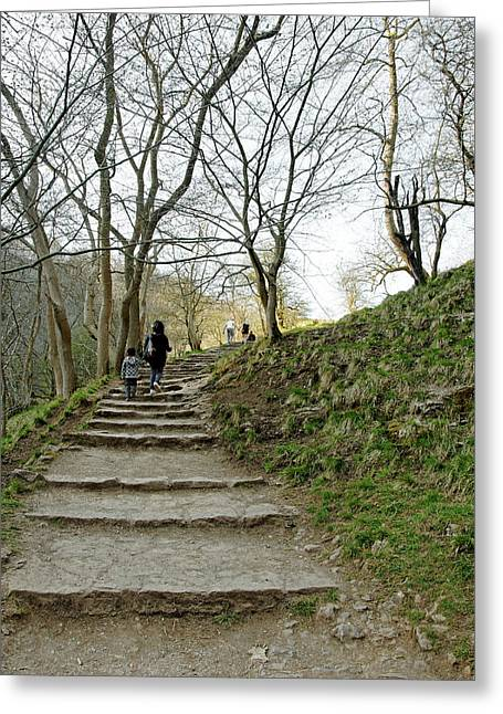 Hills Greeting Cards - Steps to Lovers Leap Greeting Card by Rod Johnson
