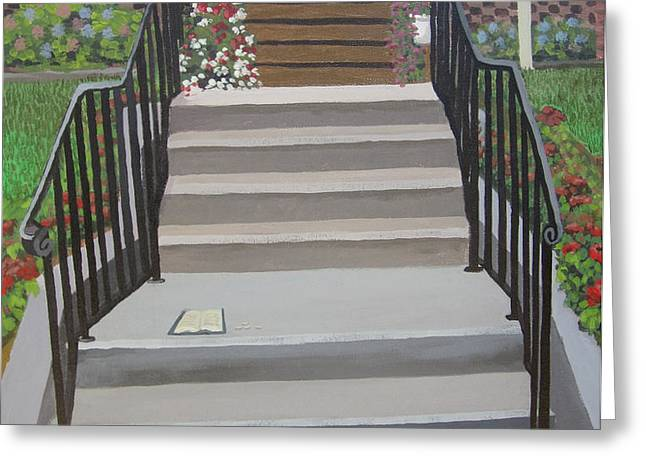 Steps to Recovery Greeting Card by Lisa Urankar