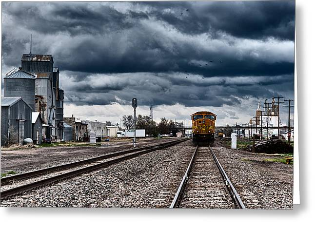 Railyard Greeting Cards - Sterling Colorado Storms Greeting Card by Darren  White