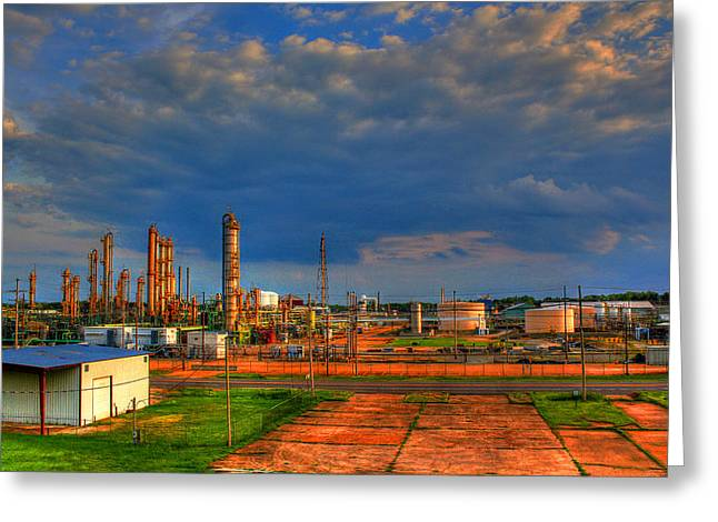 Power Plants Greeting Cards - Sterlington Power Plant Greeting Card by Ester  Rogers