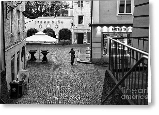 Salzburg Greeting Cards - Sternbrau Greeting Card by John Rizzuto