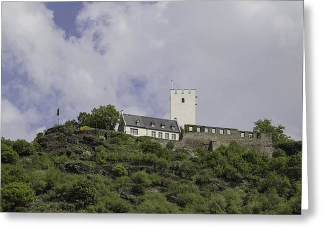 Boat Cruise Greeting Cards - Sterrenberg Castle Germany Squared Greeting Card by Teresa Mucha