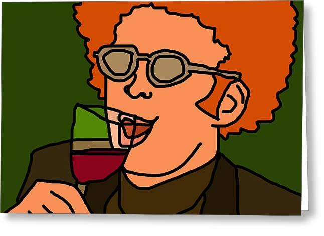 Funny Cartoon Digital Art Greeting Cards - Steve Brule Greeting Card by Jera Sky