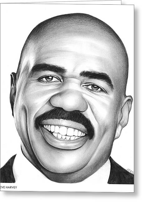 Steve Harvey Greeting Card by Greg Joens