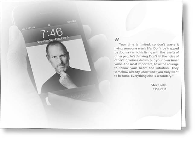 Steve Jobs 2 Greeting Card by Anthony Rego