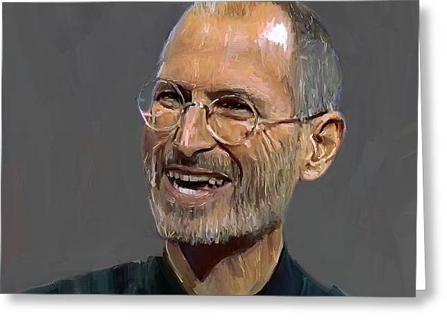 Excellent Greeting Cards - Steve Jobs Greeting Card by Yury Malkov