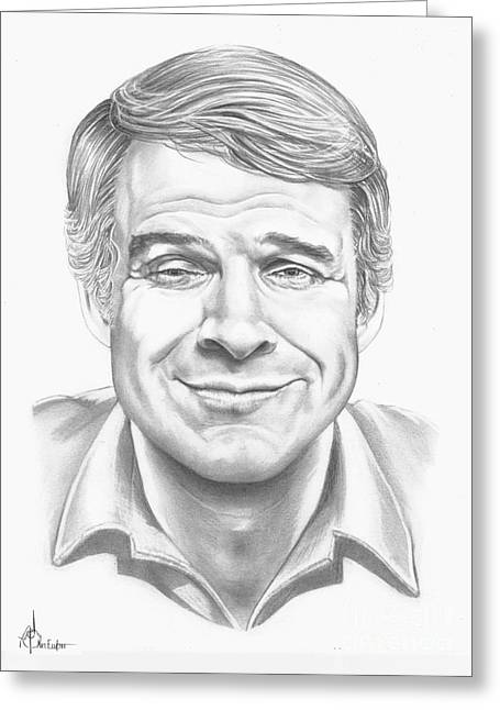 Crazy Drawings Greeting Cards - Steve Martin Greeting Card by Murphy Elliott