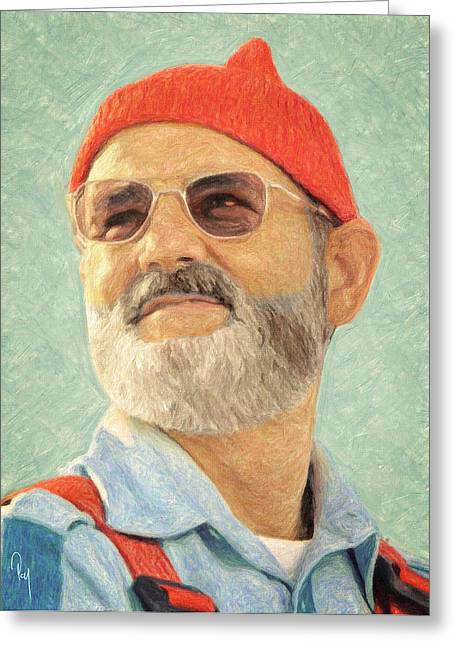 Moby Dick Greeting Cards - Steve Zissou Greeting Card by Taylan Soyturk