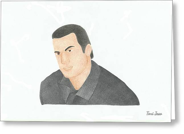 Police Officer Drawings Greeting Cards - Steven Seagal Greeting Card by Toni Jaso