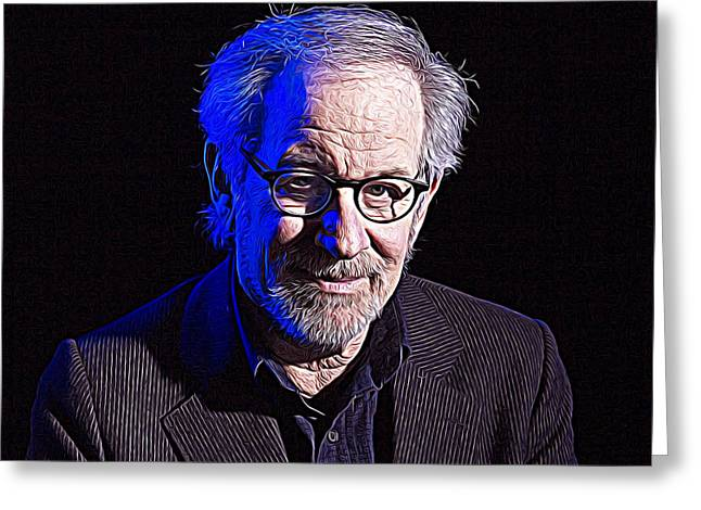 Steven Spielberg Greeting Card by Queso Espinosa