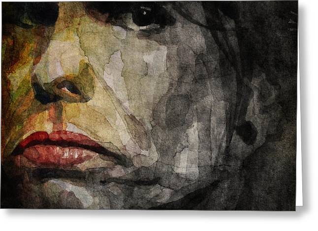 Steven Tyler  Greeting Card by Paul Lovering