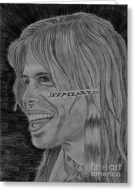 Steven Tyler Portrait Image Pictures Greeting Card by Jeepee Aero