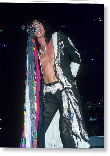 Steven Tyler Greeting Card by Rich Fuscia