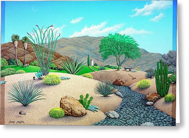 Desert Southwest Greeting Cards - Steves Yard Greeting Card by Snake Jagger