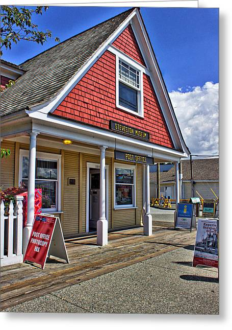 Storybrooke Greeting Cards - Steveston Post Office Greeting Card by Gwilanne Parker
