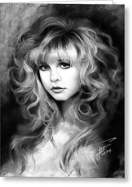 Ylli Haruni Greeting Cards - Stevie Nicks Greeting Card by Ylli Haruni