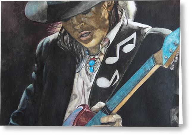 Stevie Ray Vaughan  Greeting Card by Lance Gebhardt