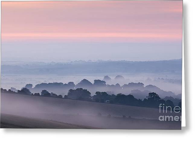 Steyning Bowl Dawn Greeting Card by Richard Thomas