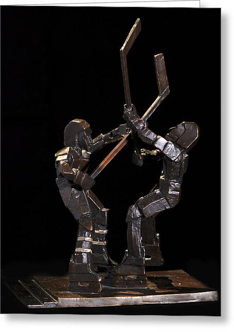 Sport Sculptures Greeting Cards - Stick Dance Greeting Card by Ken  Yackel