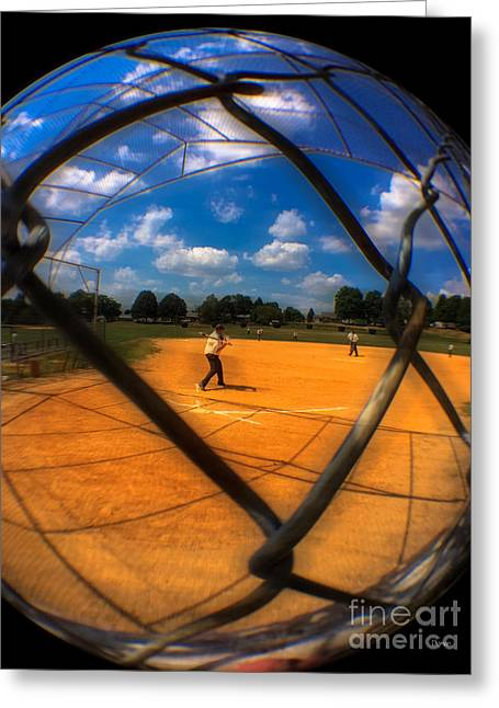 Baseball Game Greeting Cards - Stickball  Greeting Card by Steven  Digman