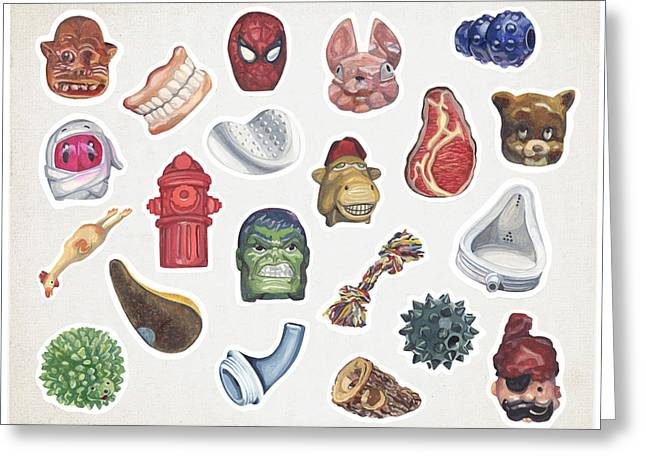 Gouache Mixed Media Greeting Cards - Sticker Sheet Greeting Card by Karl Frey