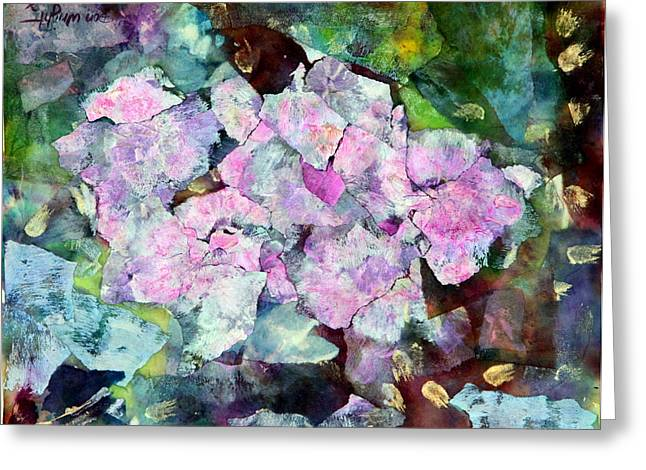 French Open Mixed Media Greeting Cards - Sticky Geranium Greeting Card by Don  Wright