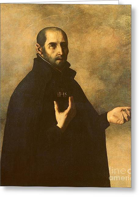 Figures Paintings Greeting Cards - St.Ignatius Loyola Greeting Card by Francisco de Zurbaran