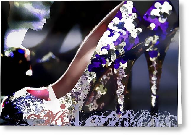 Fashion Digital Art Greeting Cards - Stiletto Greeting Card by Barb Pearson
