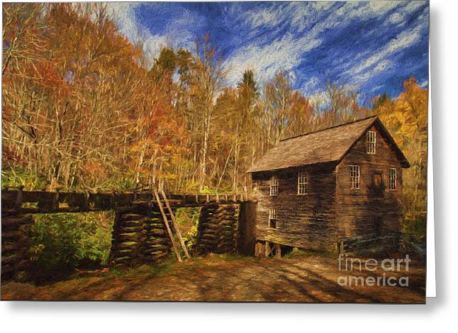 Grist Mill Greeting Cards - Still Grinding Greeting Card by Dave Bosse