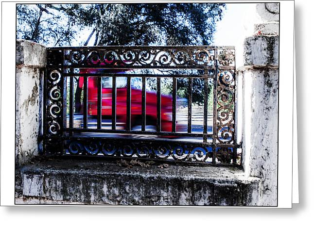 Truck Grill. Fence Greeting Cards - Still Life and Conceptual_015a Greeting Card by Charles McDonald