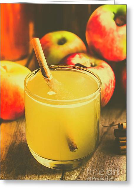 Still Life Apple Cider Beverage Greeting Card by Jorgo Photography - Wall Art Gallery