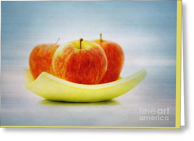 Flower Design Greeting Cards - Still LIFE apples Greeting Card by SK Pfphotography
