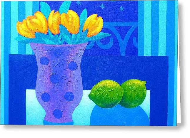 Flower Still Life Prints Greeting Cards - Still Life At Window III Greeting Card by John  Nolan
