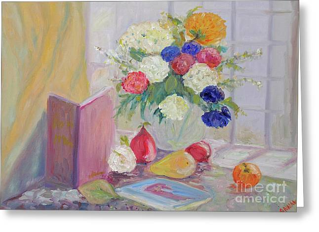 Still Life By Window Greeting Cards - Still Life by Window Greeting Card by Barbara Anna Knauf