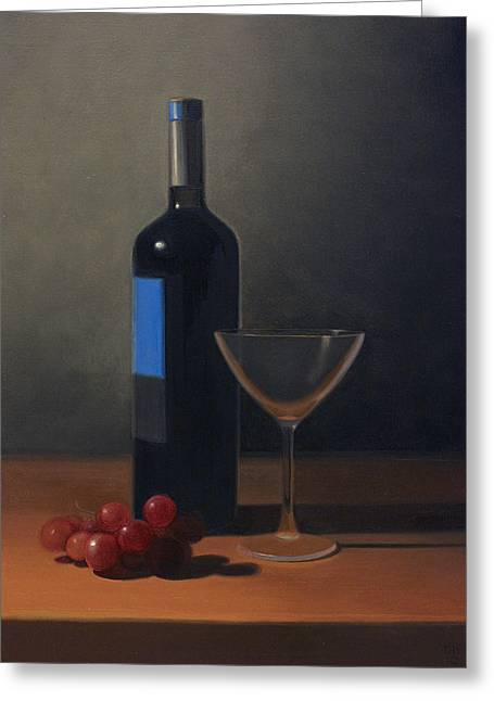 Blue Grapes Greeting Cards - Still Life Greeting Card by David John Dietrich