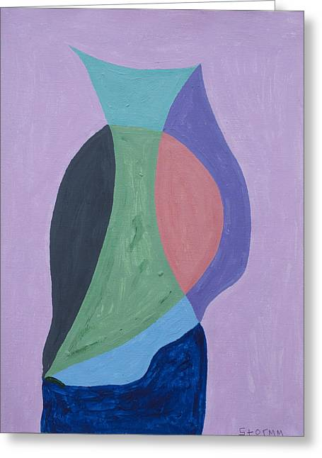 Glass Vase Greeting Cards - Still Life Figure Greeting Card by Stormm Bradshaw