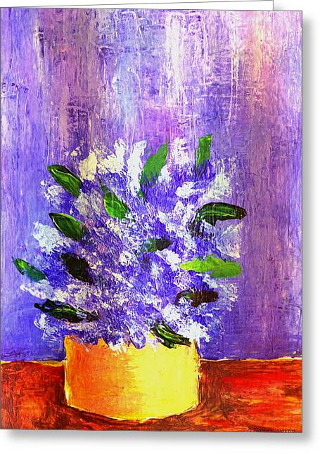 Cardboard Greeting Cards - Still Life Floral 1 Greeting Card by Dimitra Papageorgiou