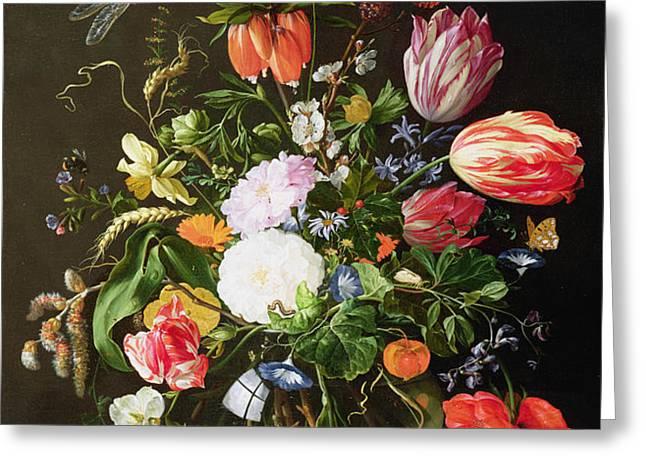 Still Life of Flowers Greeting Card by Jan Davidsz de Heem
